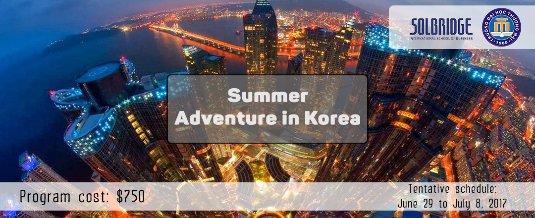 summer adventure in Korea